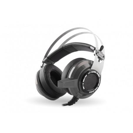 Rampage Gaming Headset SN-RW3 - 7.1 USB - Vibratie - Zilver Grijs