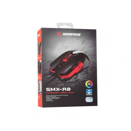 Rampage everest SMX-R8 LED 4000 dpi macro gaming muis
