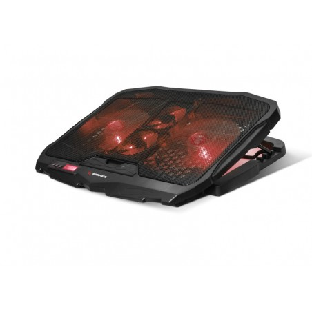 Rampage Coldbreeze AD-RC4 - Notebook Cooler - 15 tot 17 inch - Zwart