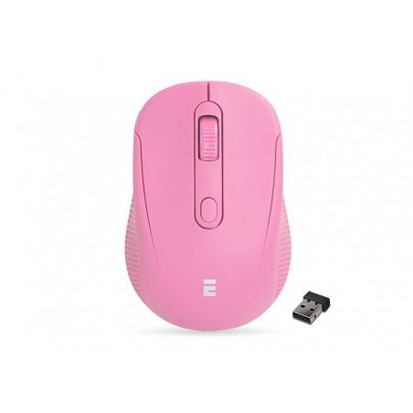 Everest SM-300 USB zacht roze optische draadloze muis
