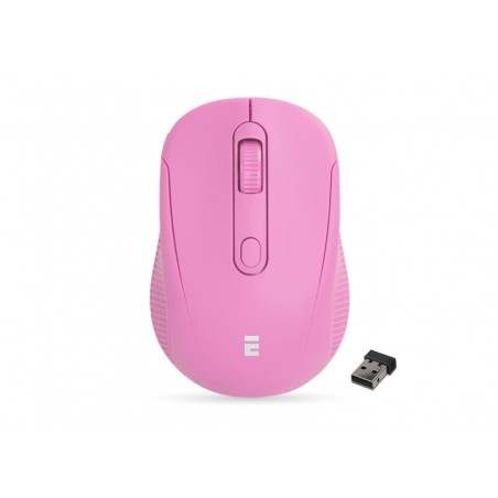 Everest SM-300 USB roze optische draadloze muis