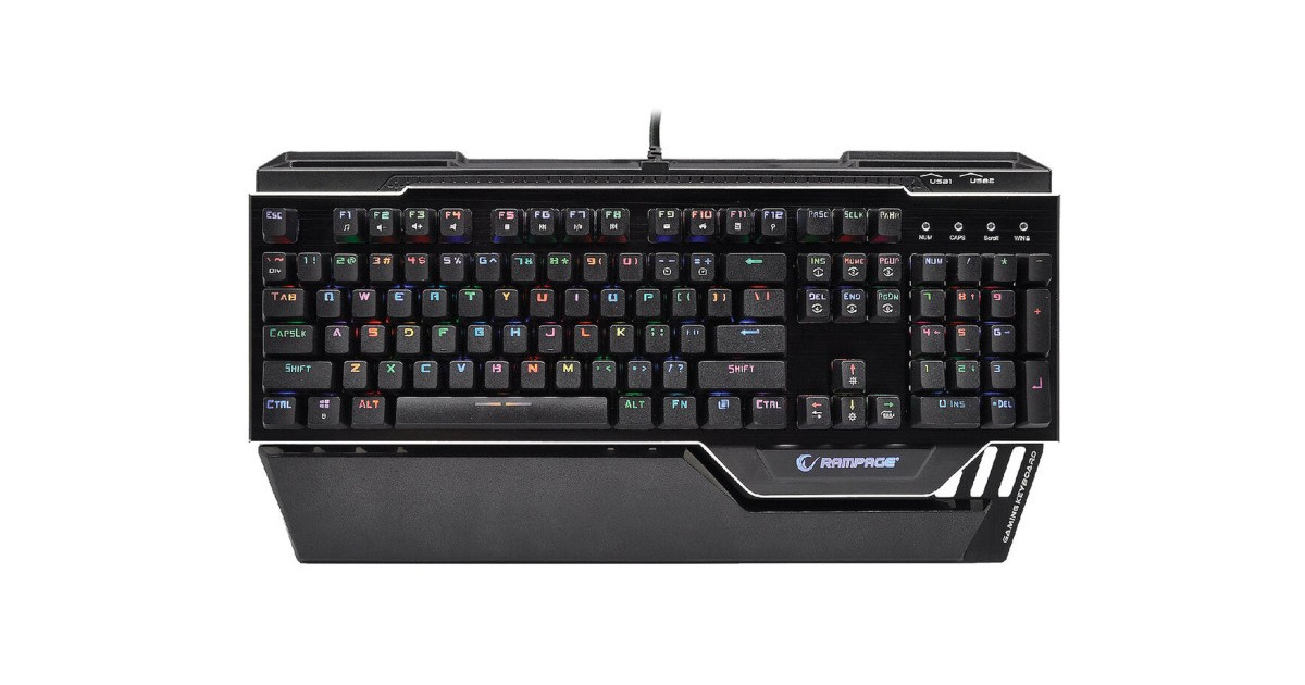 Rampage Commander Mechanische Gaming Toetsenbord - full RGB - Outemu Switch - US layout